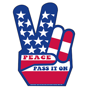 Item:  MG11030 - Peace Sign Magnetic Car Signs