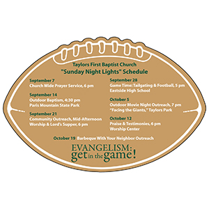 Item: Magnet-19424 - Football Schedule Skeds