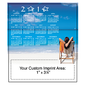 Item: Magnet-21010 - Beach Time 1 Magnetic Calendar