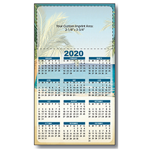 Item: Magnet-21189 - Palm Tree Large Magnetic Calendar
