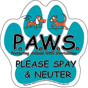 Item:  MG23015 - Paw Print Magnetic Signs