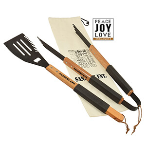 Item: GS10 Wood BBQ Set