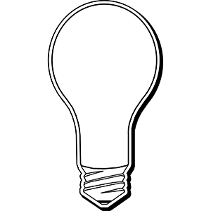 LIGHTBULB3 - Indoor NoteKeeper&#0153 Magnet
