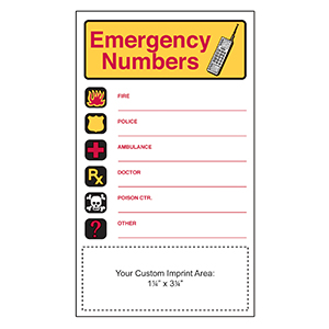 Item: Magnet-19432 - Emergency Numbers Mega-Mags&#0153 Magnet