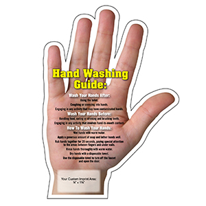 Item: Magnet-20071 - Hand Washing Tips Mega-Mag&#0153 Shaped Magnet