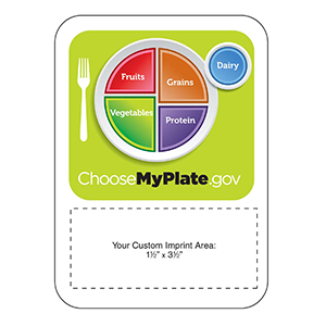 Item: Magnet-20077 - Choose My Plate Mega-Mag&#0153 Shaped Magnet