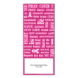 Item: Magnet-22073 - Breast Cancer Awareness Words Plus&#0153