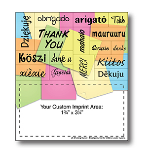 Item: Magnet-22091 - Thank You Words Plus&#0153 Business Card