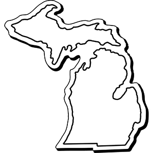 MICHIGAN1 - Indoor NoteKeeper&#0153 Magnet