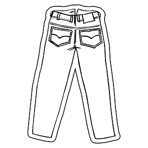 PANTS1 - Indoor NoteKeeper&#0153 Magnet
