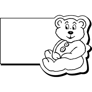 Item: RectBear1 -  Indoor Notekeeper&#0153 Magnet