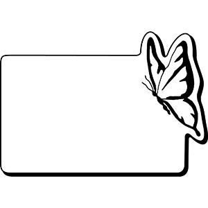 RECTBTRFLY2 - Indoor NoteKeeper&#0153 Magnet