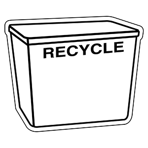 Item: Recycle5 -  Indoor Notekeeper&#0153 Magnet