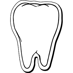 Item: Tooth5 -  Indoor Notekeeper&#0153 Magnet